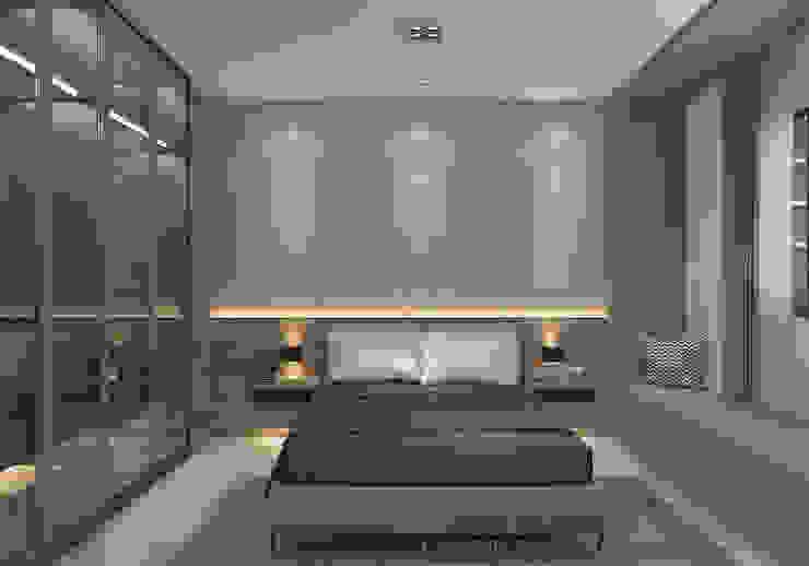 Master bedroom Swish Design Works Modern style bedroom Plywood Grey