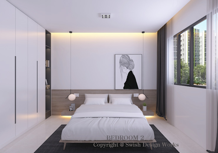 Bedroom Swish Design Works Small bedroom Plywood White