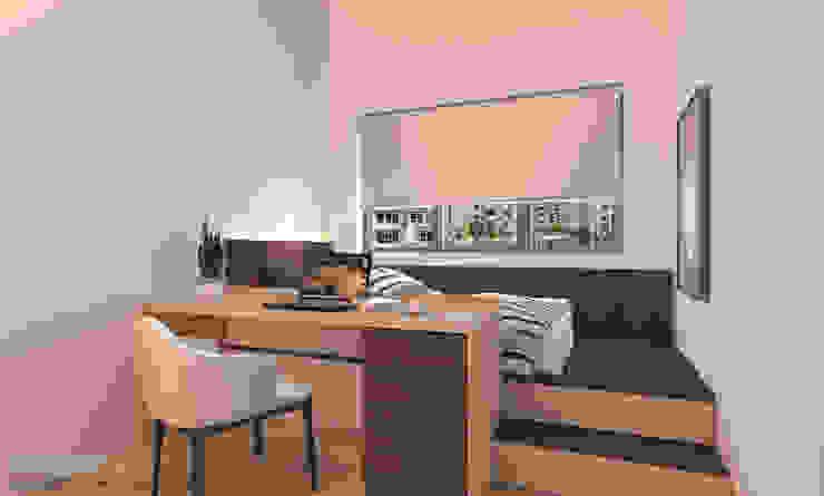 Bedroom platform bed by Swish Design Works Modern Plywood