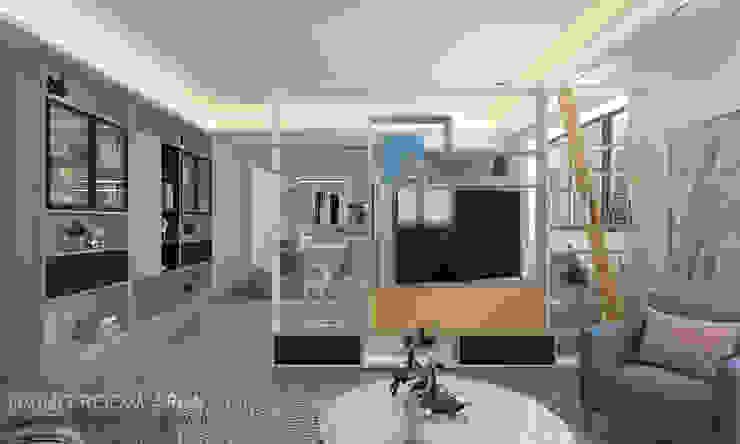Swivel TV Modern living room by Swish Design Works Modern Plywood
