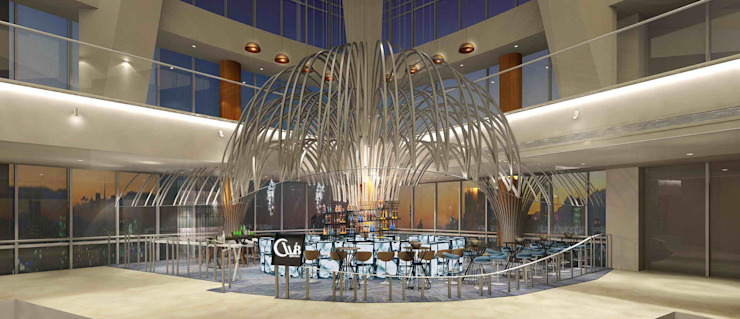 吧檯與燈 by 亚卡默设计 Akuma Design Modern Iron/Steel