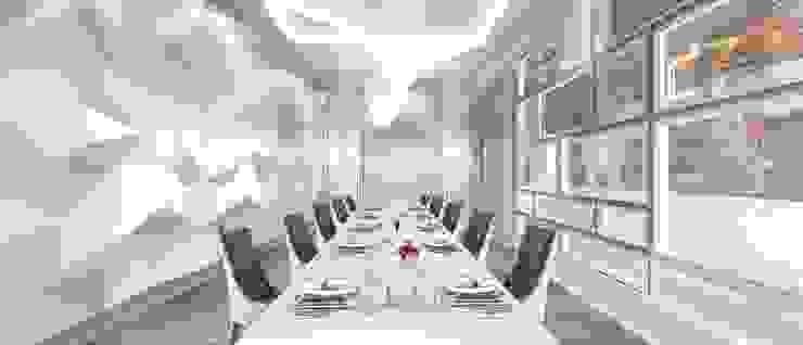 欣賞廚師好景點VVIP區包廂 根據 亚卡默设计 Akuma Design 簡約風 塑木複合材料