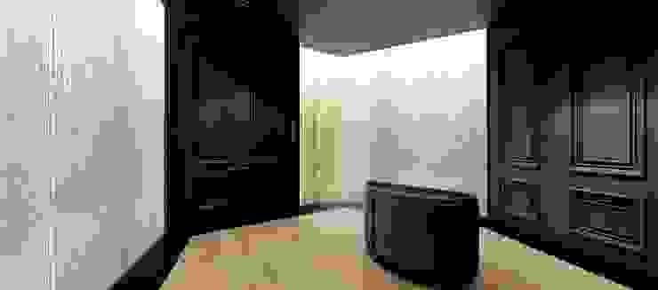 門廳入口處 by 亚卡默设计 Akuma Design Minimalist Wood-Plastic Composite