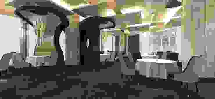 餐飲區 根據 亚卡默设计 Akuma Design 簡約風 塑木複合材料