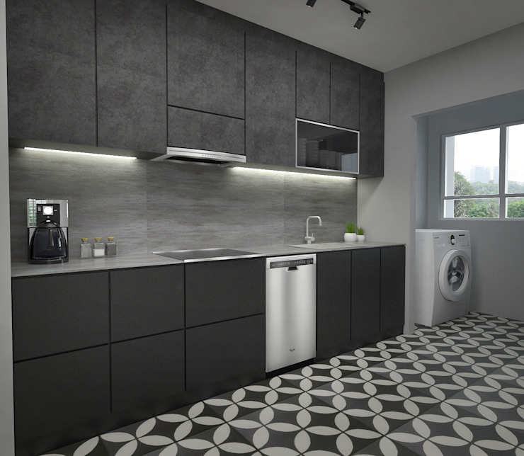 Kitchen cabinets by Swish Design Works Industrial Plywood
