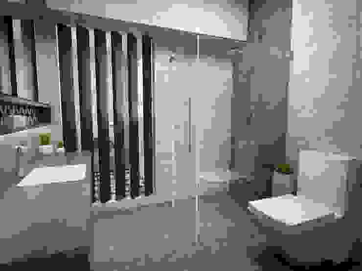 Resort style bathroom Industrial style bathroom by Swish Design Works Industrial