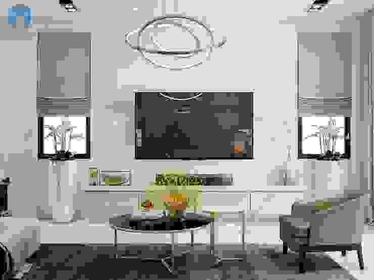 Nhờ khung cửa lớn và hai cửa sổ nhỏ nên ánh sáng có thể len lỏi vào mọi ngóc ngách trong căn phòng và giúp không gian được khai thác triệt để bởi Công ty TNHH Nội Thất Mạnh Hệ Hiện đại Gỗ Wood effect