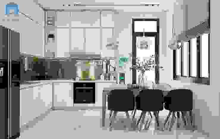 Không gian bếp thoáng đãng, tiện nghi Nhà bếp phong cách hiện đại bởi Công ty TNHH Nội Thất Mạnh Hệ Hiện đại Gỗ thiết kế Transparent