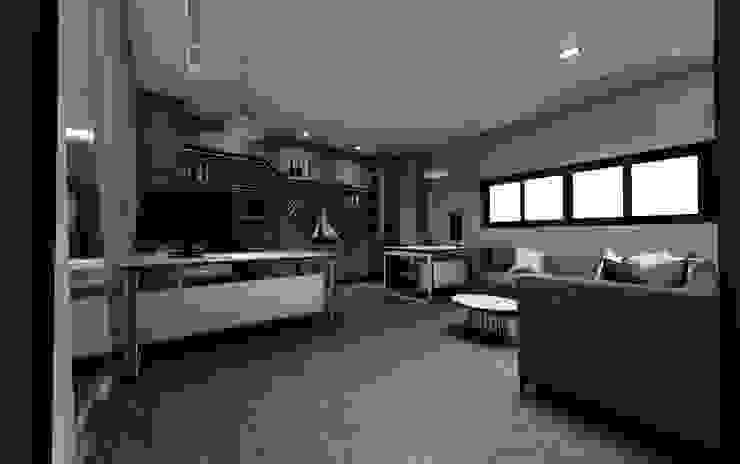 辦公室 根據 亚卡默设计 Akuma Design 現代風 塑木複合材料