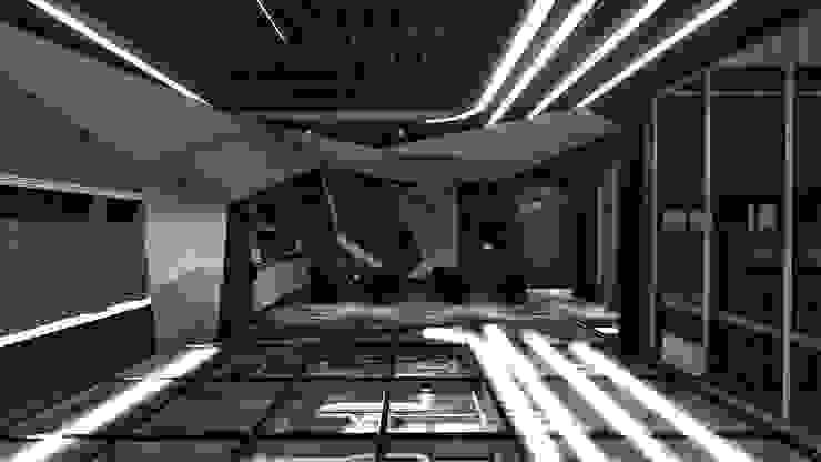 販賣展售區 根據 亚卡默设计 Akuma Design 現代風 塑木複合材料