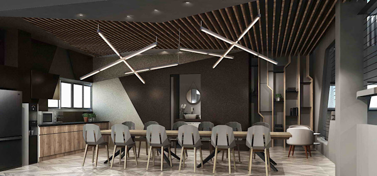 茶水間 根據 亚卡默设计 Akuma Design 現代風 金屬