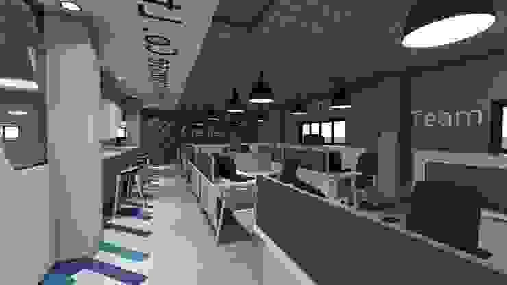 吸音時尚辦公室 根據 亚卡默设计 Akuma Design 現代風 軟木塞