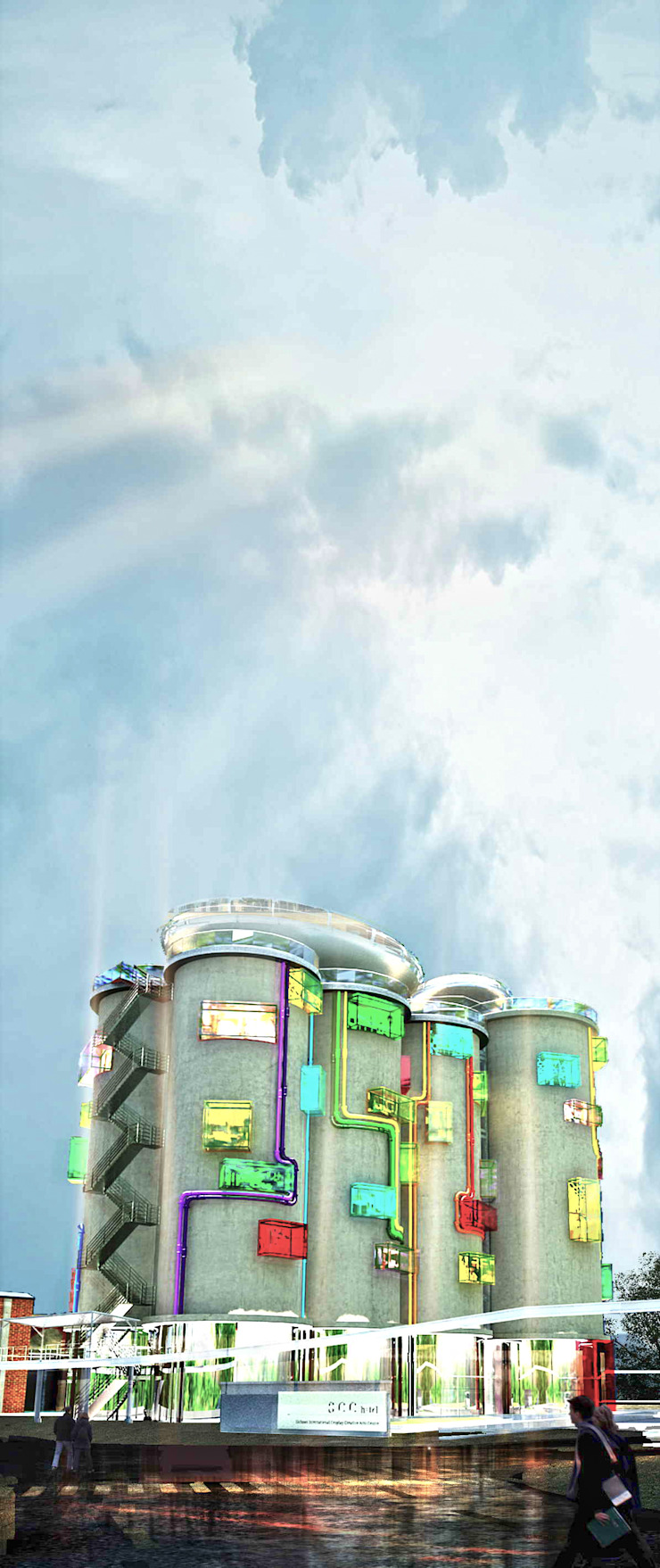 飯店外觀設計 根據 亚卡默设计 Akuma Design 現代風 水泥