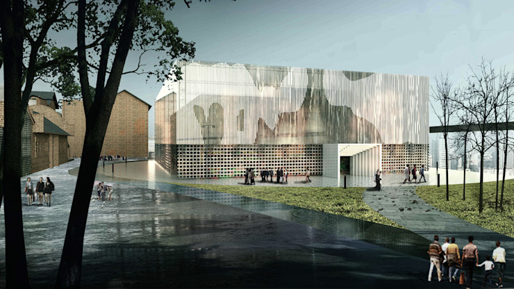 展覽中心 根據 亚卡默设计 Akuma Design 現代風 金屬