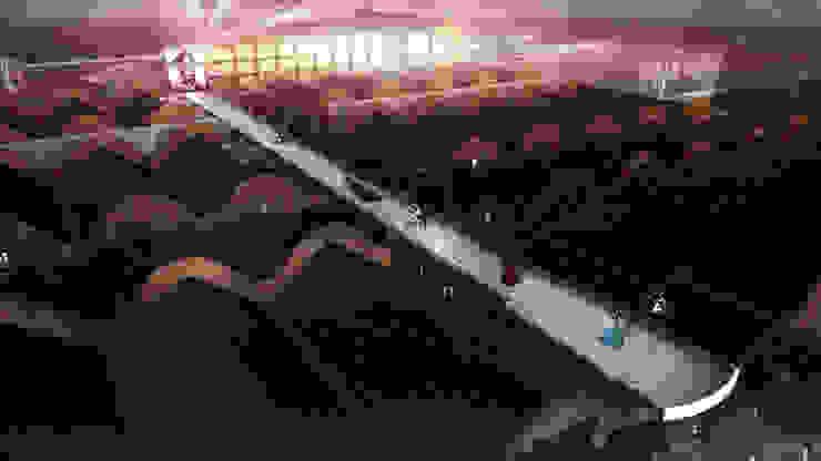 伸展台 根據 亚卡默设计 Akuma Design 現代風 金屬