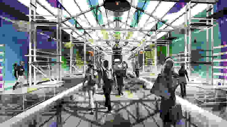 展覽中心 根據 亚卡默设计 Akuma Design 現代風 塑膠