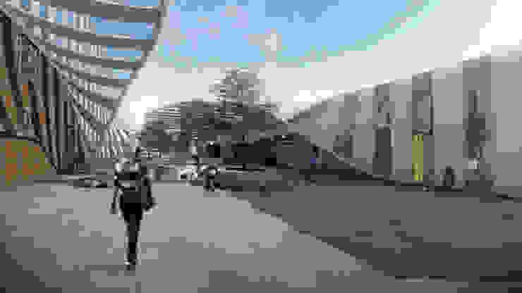 拍攝空間與外面休息區 根據 亚卡默设计 Akuma Design 現代風 金屬