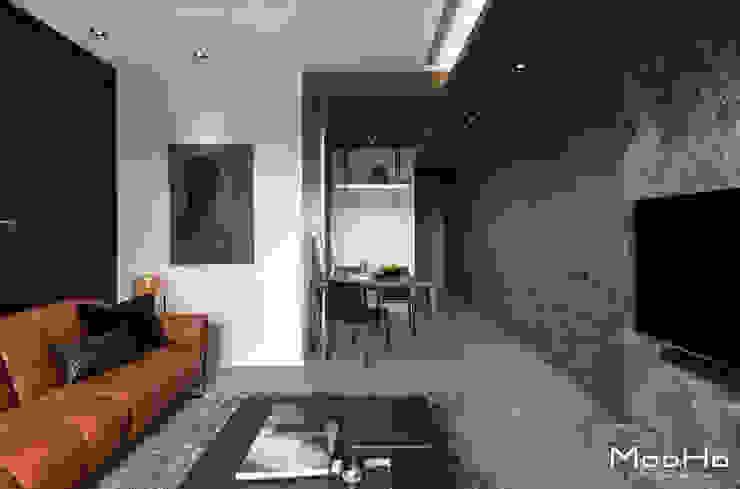 新店常宅 现代客厅設計點子、靈感 & 圖片 根據 沐荷設計工程有限公司 現代風