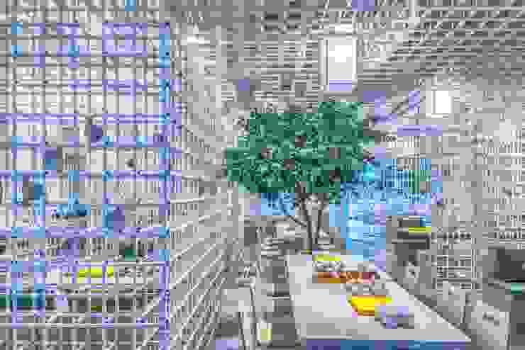 樹下飲食區 根據 亚卡默设计 Akuma Design 現代風 水泥