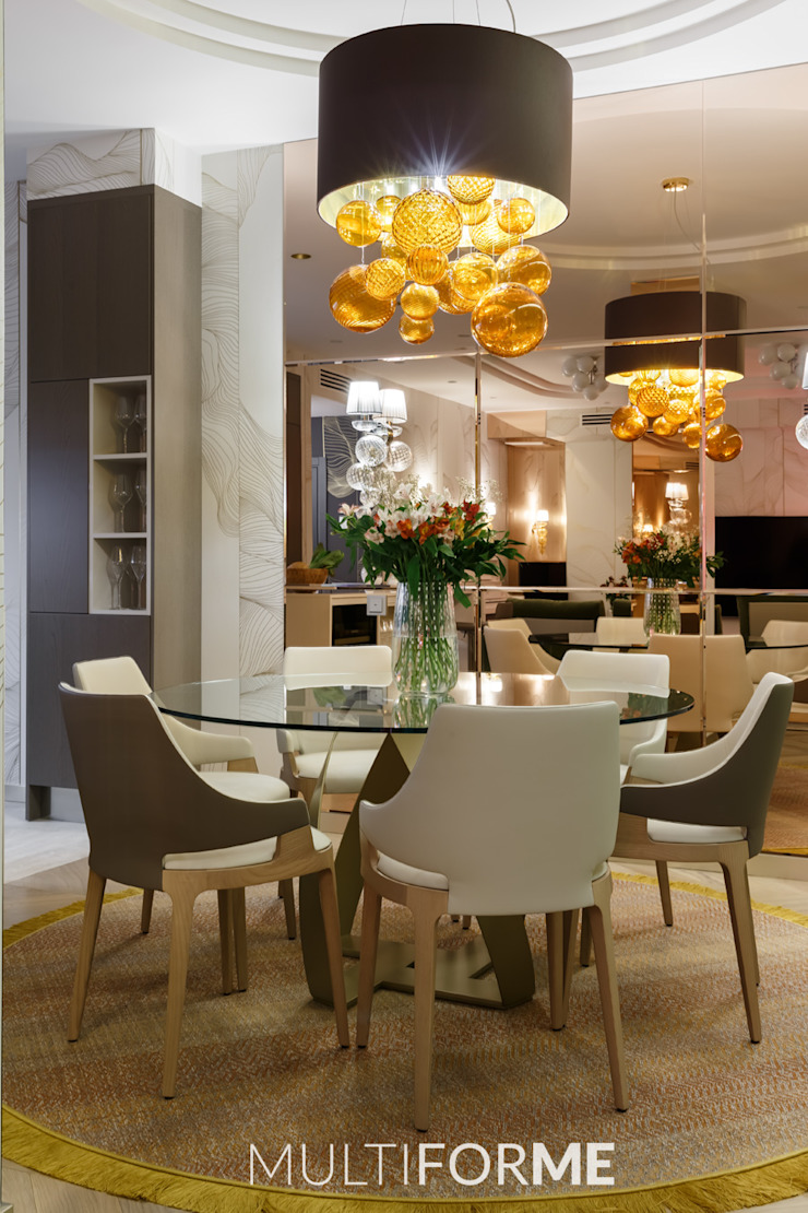 """La Dolce Vita"" Appartment in Saint Petersburg de MULTIFORME® lighting Moderno Vidrio"