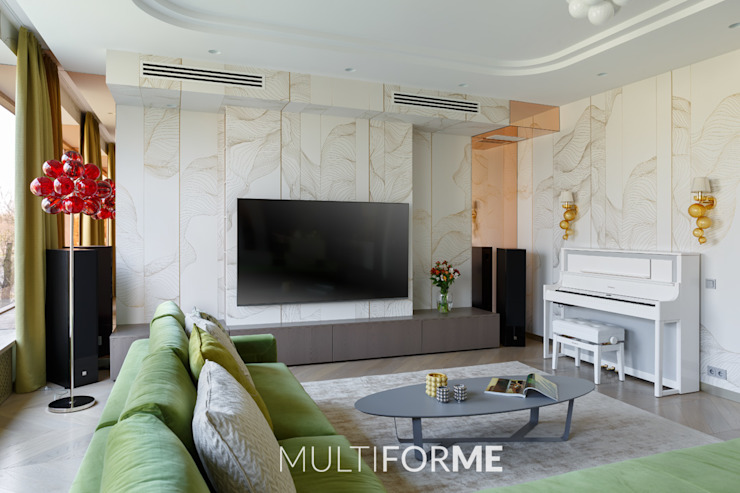 "<q class=""-first"">La Dolce Vita</q> Appartment in Saint Petersburg de MULTIFORME® lighting Moderno Vidrio"