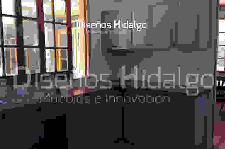 MUEBLES DE COCINA – CASA FERNANDEZ:  de estilo industrial por Diseños Hidalgo, Industrial Madera Acabado en madera