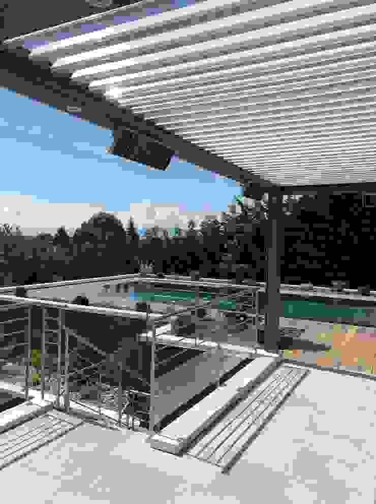 Technomac Balkon, Beranda & Teras Modern