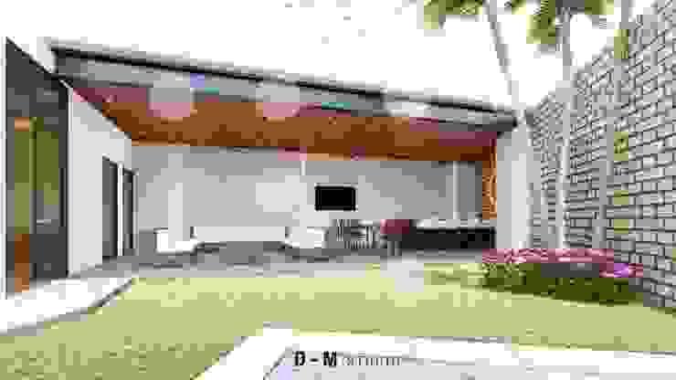 Propuesta de diseño - Visualización digital Balcones y terrazas modernos de D-M studio Moderno