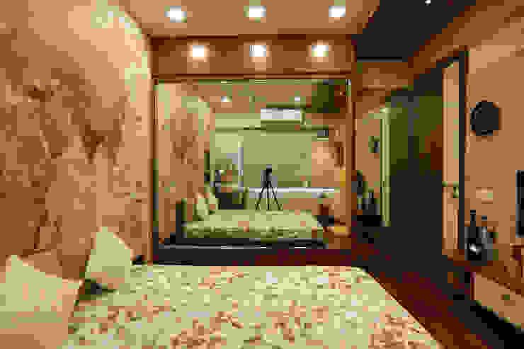 Nowoczesna sypialnia od Fluid Studio Nowoczesny Szkło