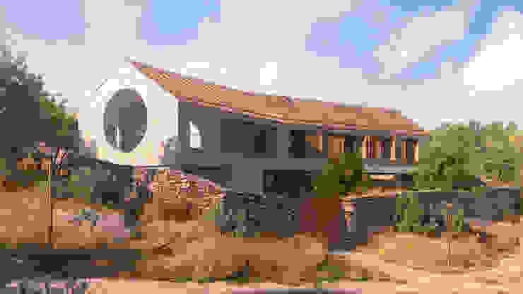 Vivienda bioclimática en Manzanares El Real: Casas unifamilares de estilo  de NOEMA studio, Rural Hormigón