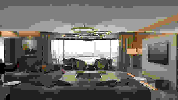 Living room Ashleys Modern Living Room Beige