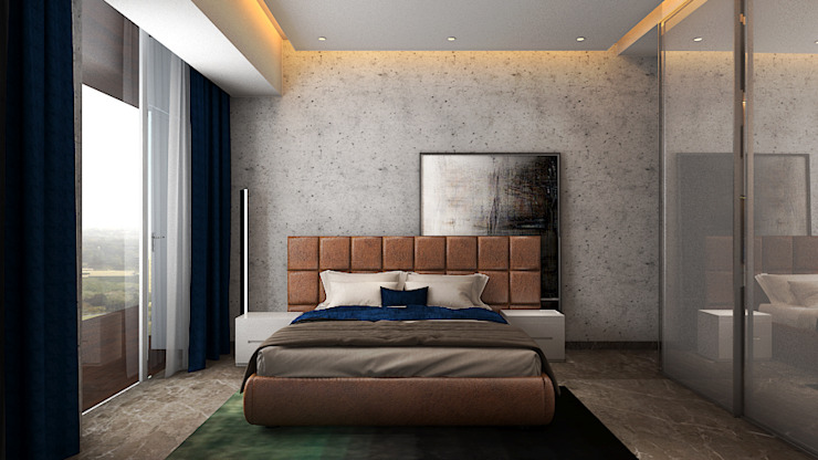 Bedroom Ashleys Modern style bedroom Grey