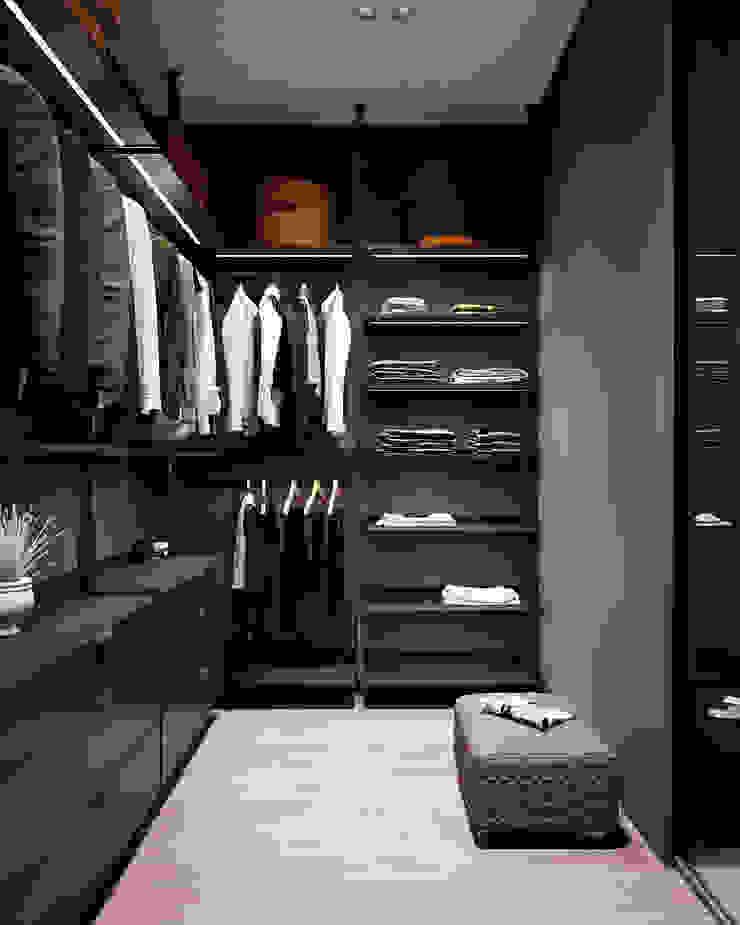 Y.F.architects Minimalist dressing room