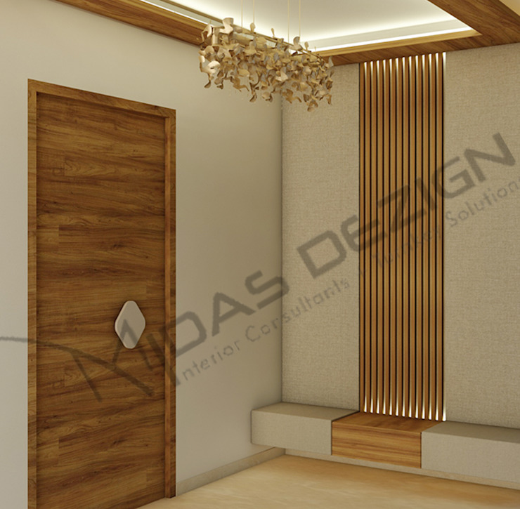 Midas Dezign Pasillos, vestíbulos y escaleras modernos