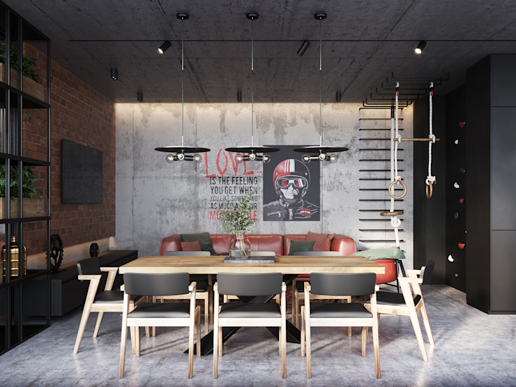 Y.F.architects Cucina in stile industriale