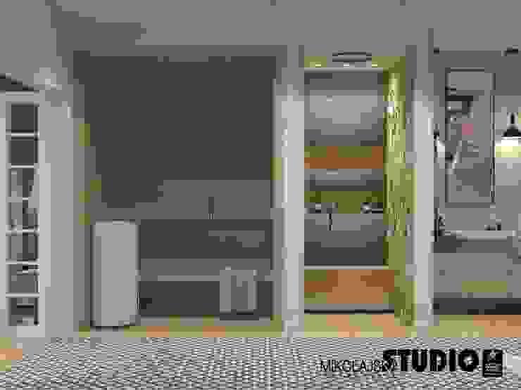 sauna w łazience Eklektyczna łazienka od MIKOŁAJSKAstudio Eklektyczny