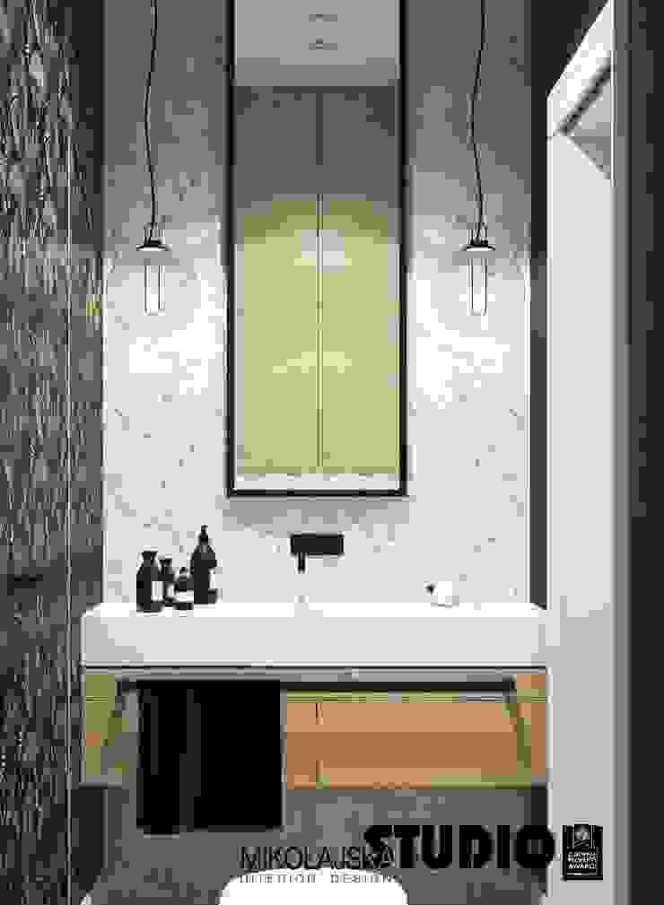 zaskakująca łazienka Eklektyczna łazienka od MIKOŁAJSKAstudio Eklektyczny