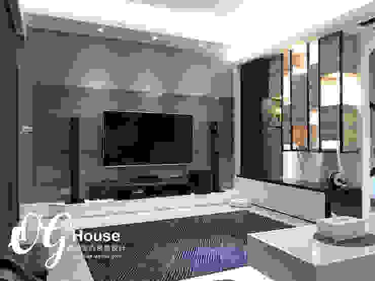 現代簡約風格 现代客厅設計點子、靈感 & 圖片 根據 歐居室內設計有限公司 現代風
