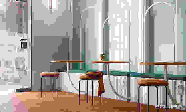 Equipe Ceramicas Ruang Makan Modern Ubin Blue