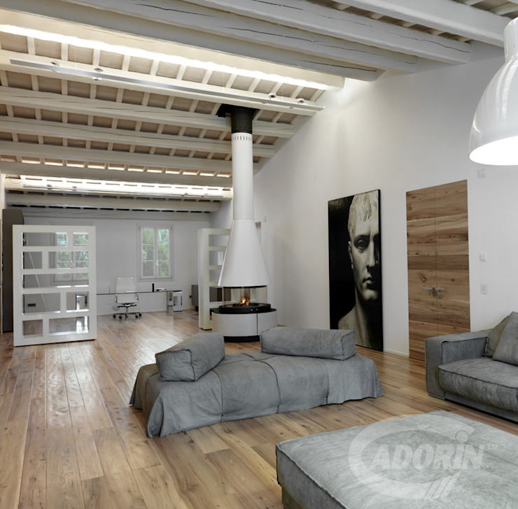 Cadorin Group Srl - Italian craftsmanship production Wood flooring and Coverings Modern Living Room