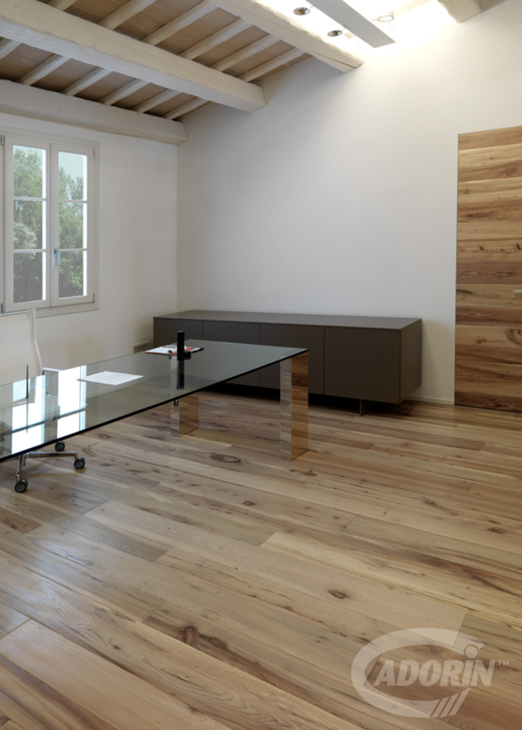 Cadorin Group Srl - Italian craftsmanship production Wood flooring and Coverings Modern Study Room and Home Office
