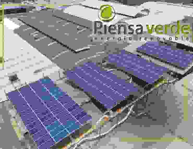 Instalación a Bodega de 224 Paneles Solares de Piensa Verde México, Querétaro, Cancún Industrial Metal