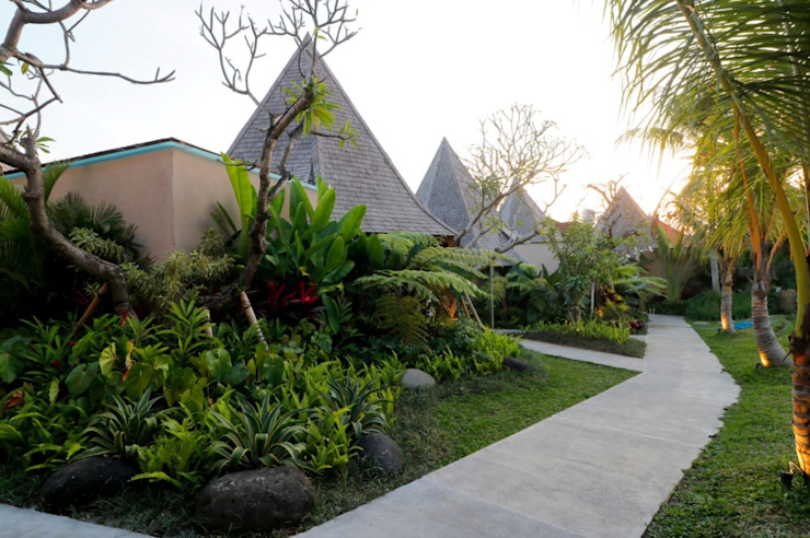 WaB - Wimba anenggata architects Bali Eclectic style hotels Concrete Multicolored