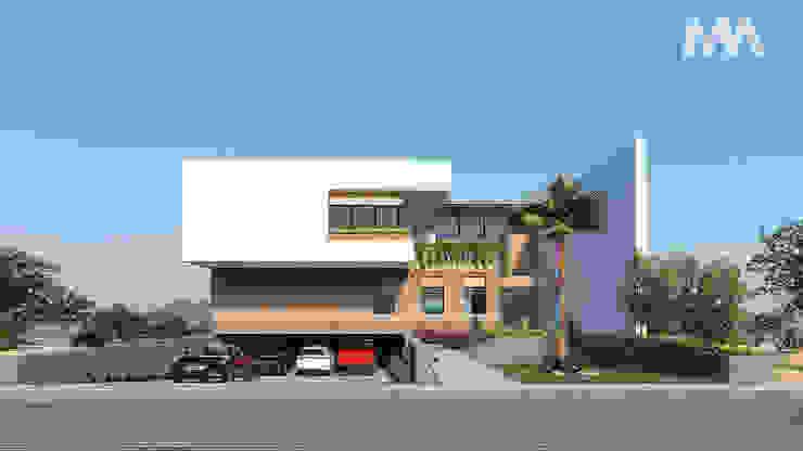 Fachada Principal Casas modernas de Merarki Arquitectos Moderno