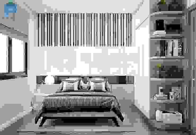 Màu sắc tươi sáng tạo nên không gian sống thân thiện bởi Công ty TNHH Nội Thất Mạnh Hệ Hiện đại Gỗ Wood effect