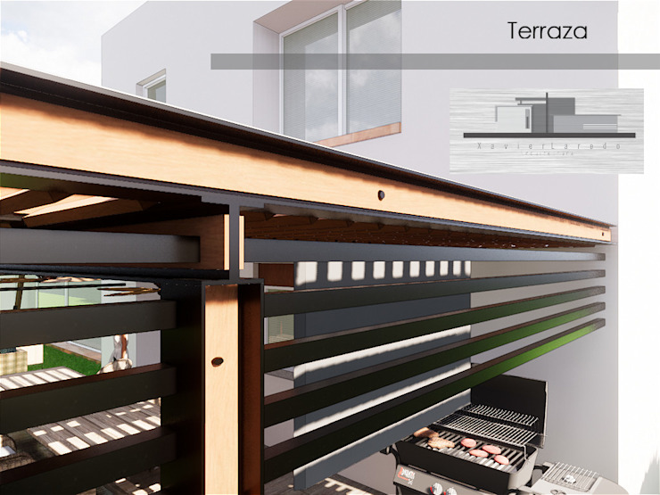 Modern Terrace by Xavier Laredo Arquitecto Modern Wood Wood effect