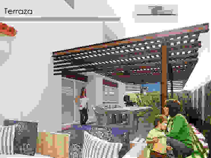 Modern Terrace by Xavier Laredo Arquitecto Modern Metal