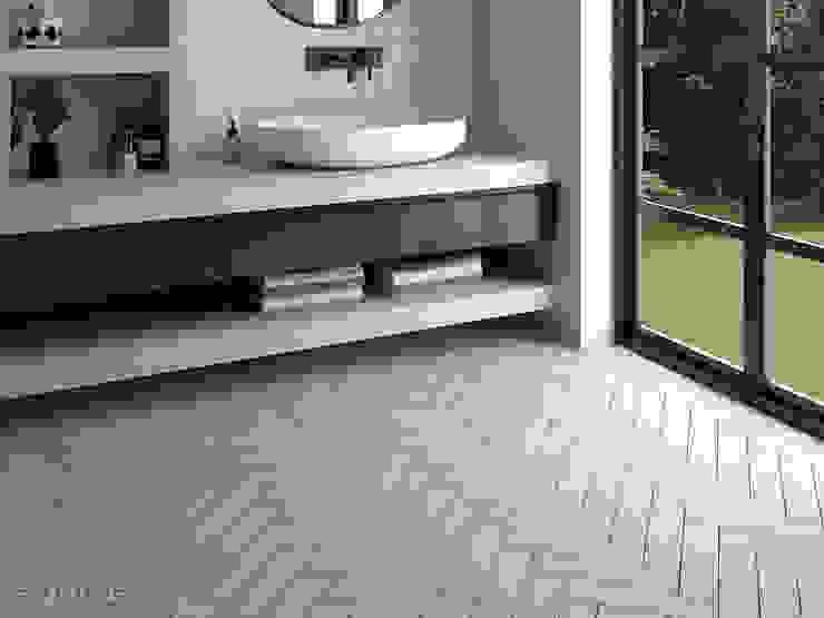 Salle de bain moderne par Equipe Ceramicas Moderne Tuiles