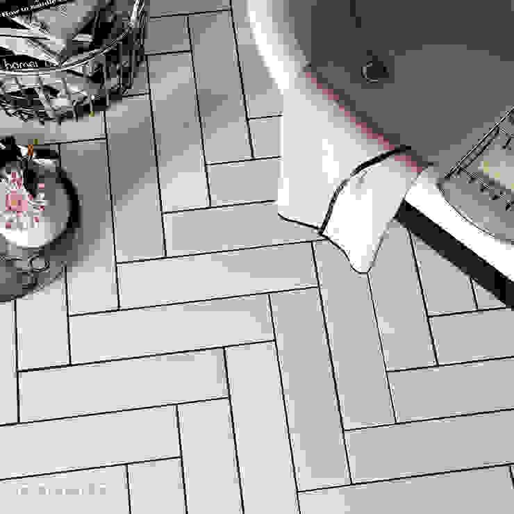 Salle de bain scandinave par Equipe Ceramicas Scandinave Tuiles
