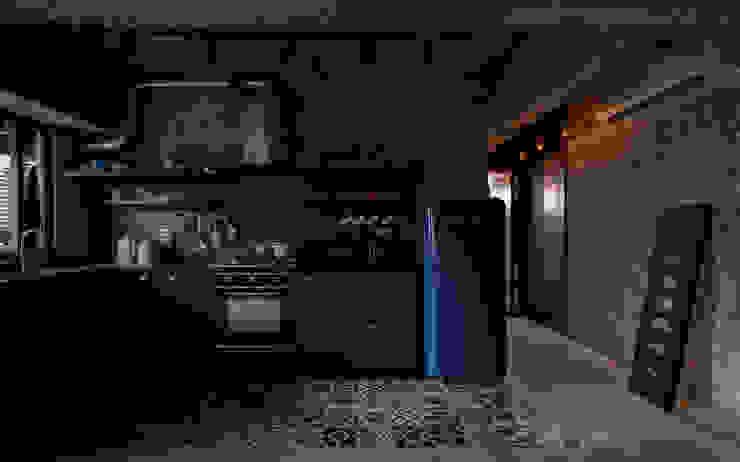 Cocinas de estilo industrial de 湜湜空間設計 Industrial